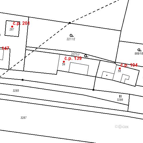 Katastrální mapa Stavební objekt Chornice 139, Chornice