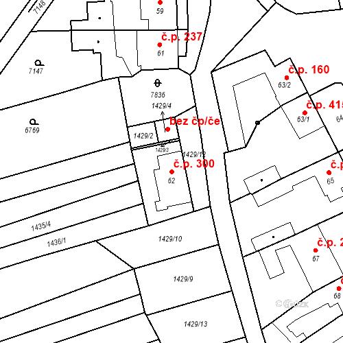 Katastrální mapa Stavební objekt Bošovice 300, Bošovice