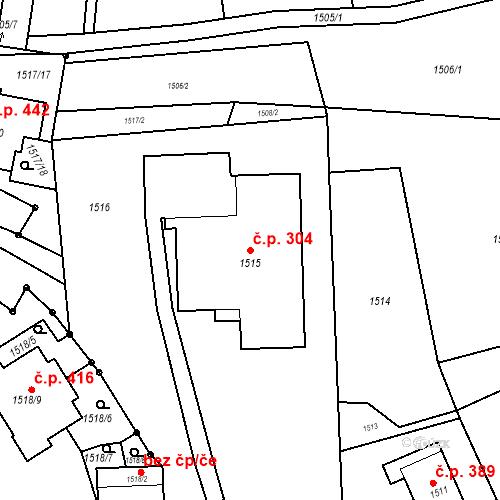 Katastrální mapa Stavební objekt Bošovice 304, Bošovice