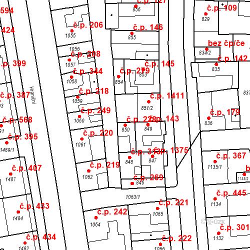 Katastrální mapa Stavební objekt Poštorná 228, Břeclav
