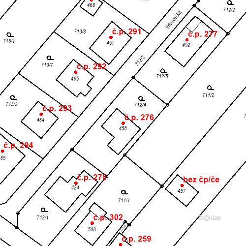 Katastrální mapa Stavební objekt Cetkovice 276, Cetkovice
