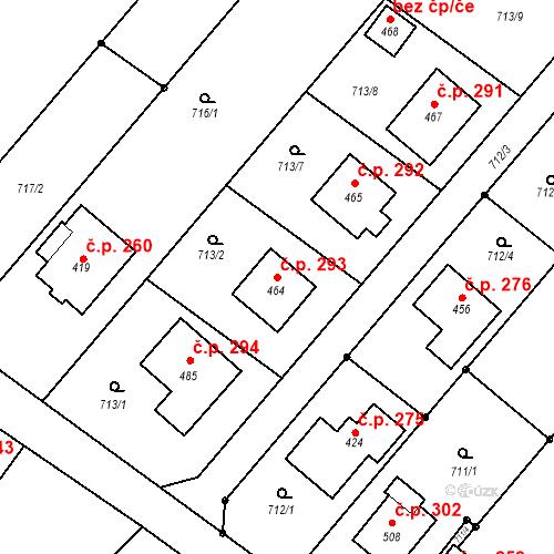 Katastrální mapa Stavební objekt Cetkovice 293, Cetkovice