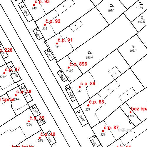 Katastrální mapa Stavební objekt Rakvice 896, Rakvice
