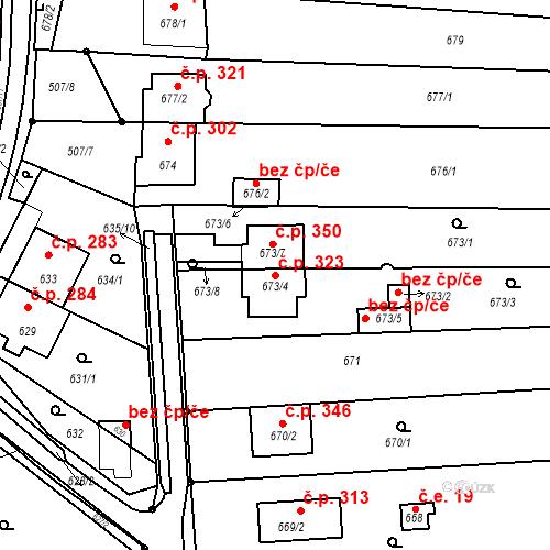 Katastrální mapa Stavební objekt Prace 323, Prace