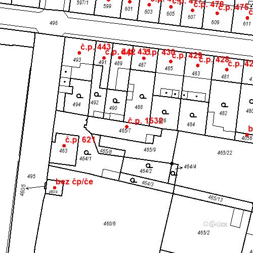 Katastrální mapa Stavební objekt Předměstí 1532, Moravská Třebová