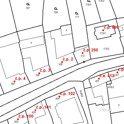 Katastrální mapa Stavební objekt Velké Opatovice 2, Velké Opatovice