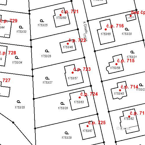 Katastrální mapa Stavební objekt Velké Opatovice 723, Velké Opatovice