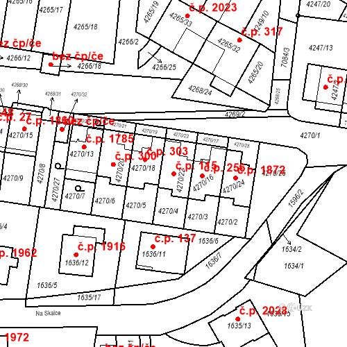 Katastrální mapa Stavební objekt Boskovice 115, Boskovice