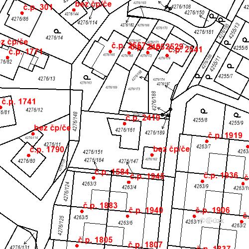 Katastrální mapa Stavební objekt Boskovice 2419, Boskovice