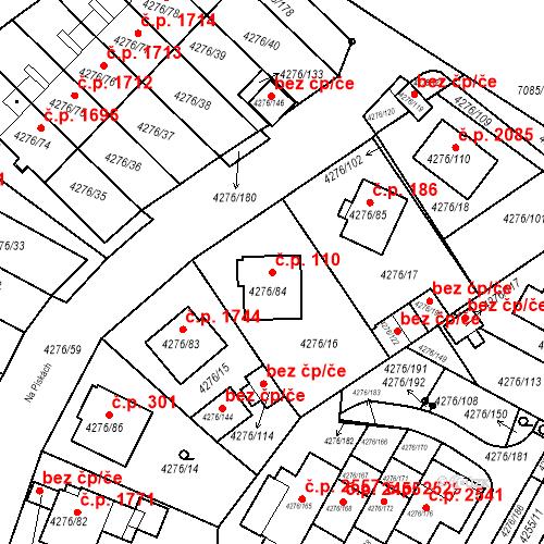 Katastrální mapa Stavební objekt Boskovice 110, Boskovice