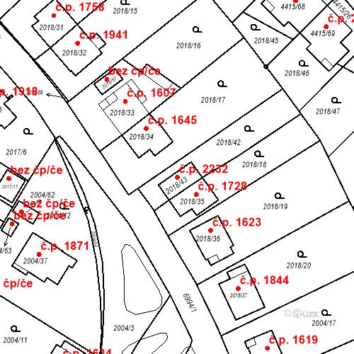 Katastrální mapa Stavební objekt Boskovice 2232, Boskovice