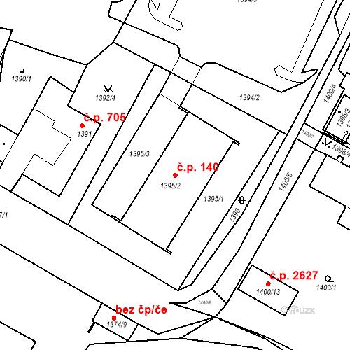 Katastrální mapa Stavební objekt Boskovice 140, Boskovice