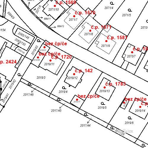 Katastrální mapa Stavební objekt Boskovice 142, Boskovice