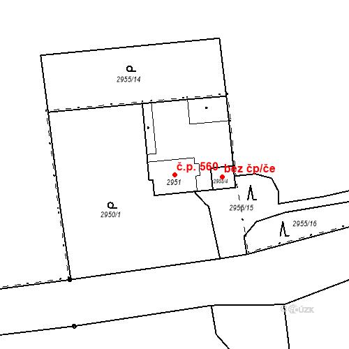Katastrální mapa Stavební objekt Valtice 560, Valtice