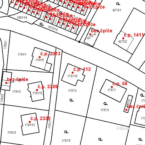 Katastrální mapa Stavební objekt Boskovice 112, Boskovice