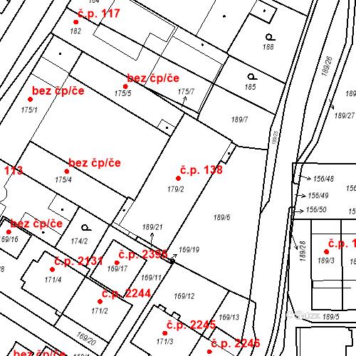 Katastrální mapa Stavební objekt Boskovice 138, Boskovice