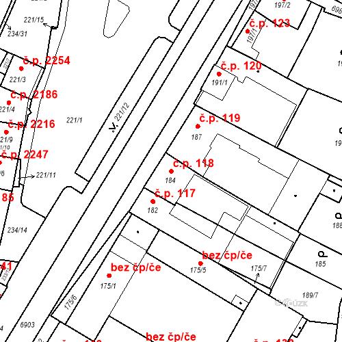Katastrální mapa Stavební objekt Boskovice 118, Boskovice