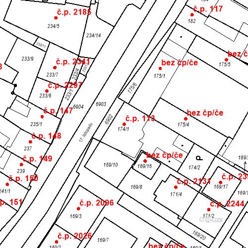 Katastrální mapa Stavební objekt Boskovice 113, Boskovice