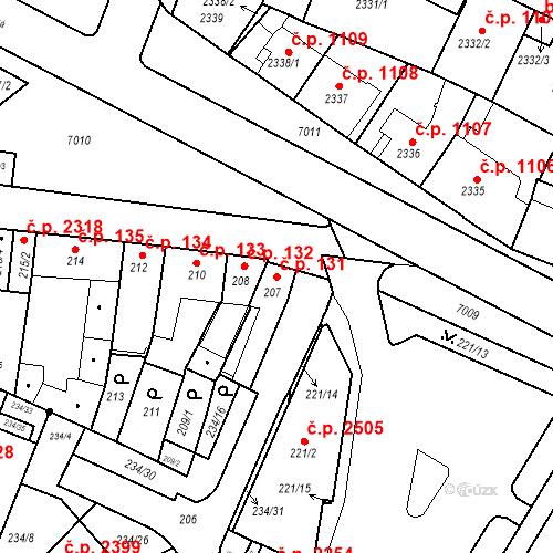 Katastrální mapa Stavební objekt Boskovice 131, Boskovice