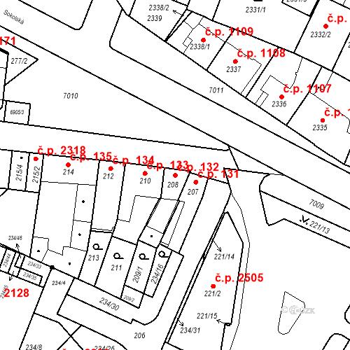 Katastrální mapa Stavební objekt Boskovice 132, Boskovice
