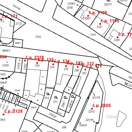 Katastrální mapa Stavební objekt Boskovice 133, Boskovice