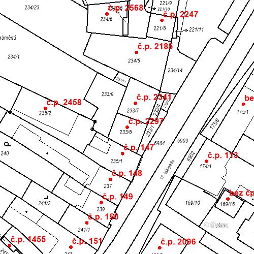 Katastrální mapa Stavební objekt Boskovice 2297, Boskovice