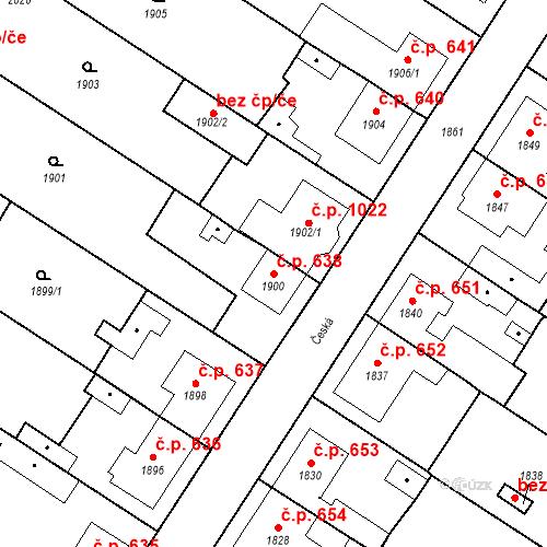 Katastrální mapa Stavební objekt Valtice 638, Valtice