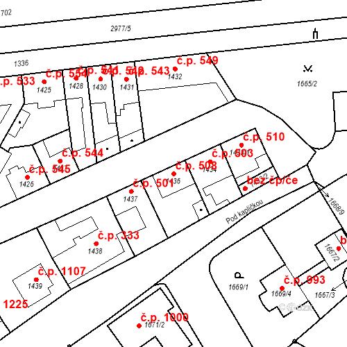 Katastrální mapa Stavební objekt Valtice 508, Valtice