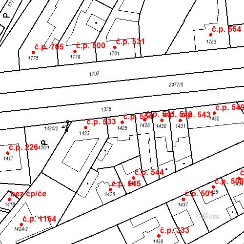 Katastrální mapa Stavební objekt Valtice 554, Valtice