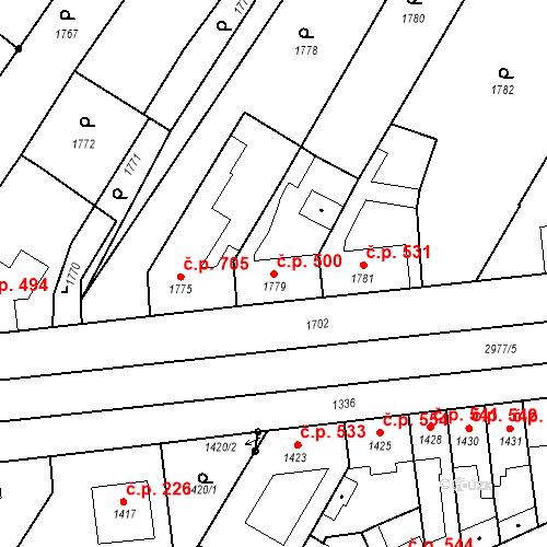Katastrální mapa Stavební objekt Valtice 500, Valtice
