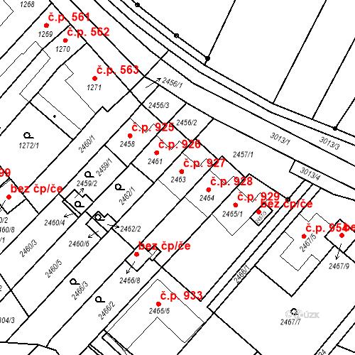 Katastrální mapa Stavební objekt Valtice 927, Valtice