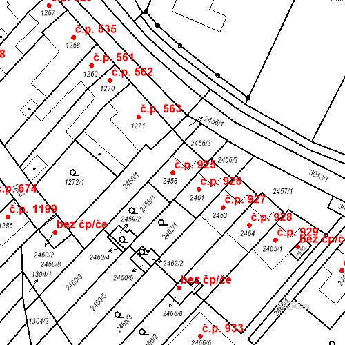 Katastrální mapa Stavební objekt Valtice 925, Valtice