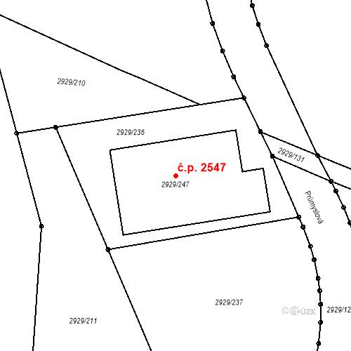 Katastrální mapa Stavební objekt Boskovice 2547, Boskovice