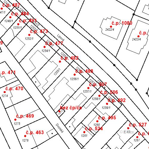 Katastrální mapa Stavební objekt Valtice 488, Valtice