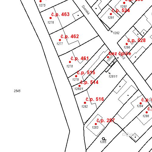 Katastrální mapa Stavební objekt Valtice 515, Valtice