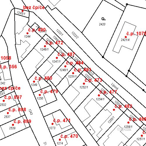 Katastrální mapa Stavební objekt Valtice 491, Valtice