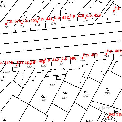 Katastrální mapa Stavební objekt Valtice 686, Valtice