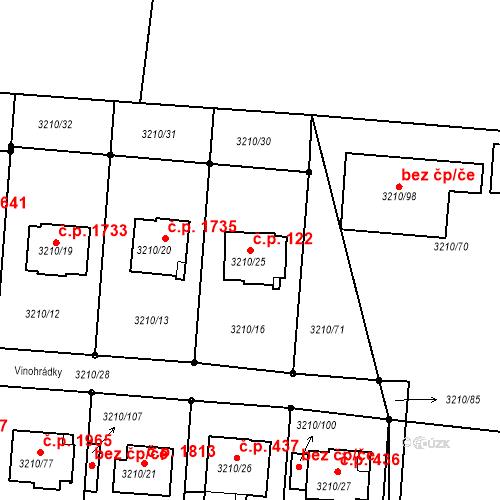 Katastrální mapa Stavební objekt Boskovice 122, Boskovice