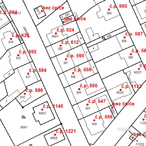 Katastrální mapa Stavební objekt Valtice 559, Valtice