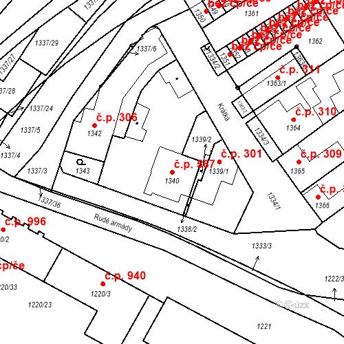 Katastrální mapa Stavební objekt Valtice 567, Valtice