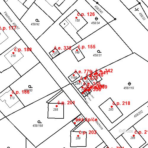 Katastrální mapa Stavební objekt Adamov 779, Adamov