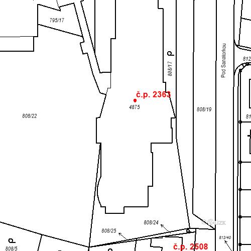 Katastrální mapa Stavební objekt Blansko 2363, Blansko