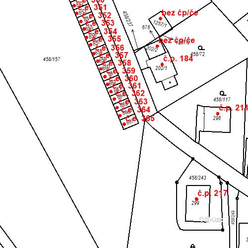 Katastrální mapa Stavební objekt Adamov 365, Adamov
