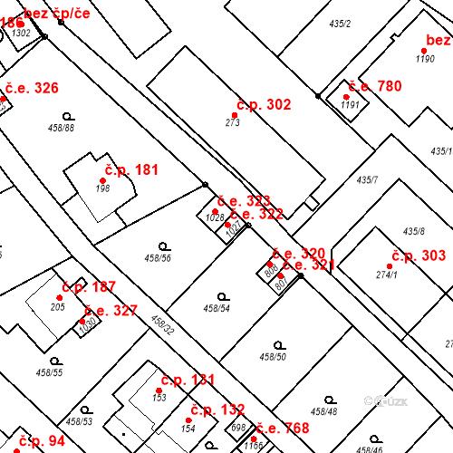 Katastrální mapa Stavební objekt Adamov 322, Adamov