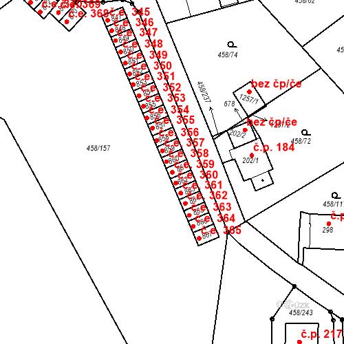 Katastrální mapa Stavební objekt Adamov 359, Adamov