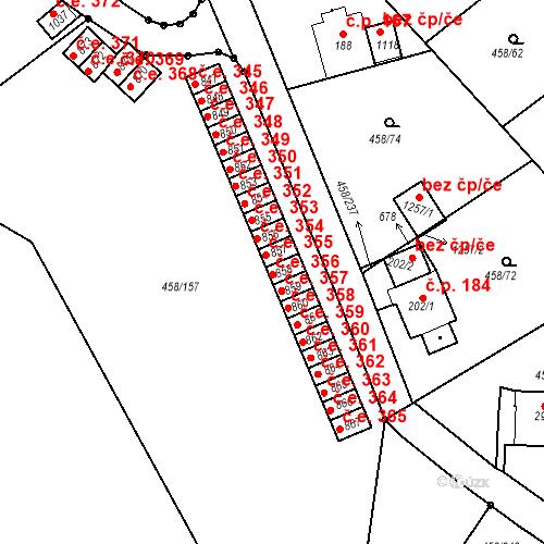 Katastrální mapa Stavební objekt Adamov 356, Adamov