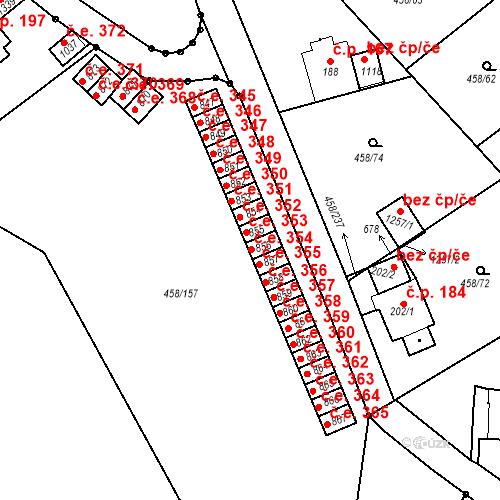 Katastrální mapa Stavební objekt Adamov 354, Adamov