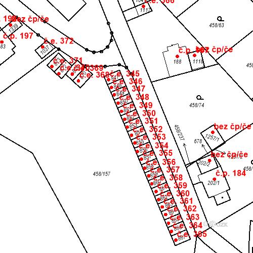 Katastrální mapa Stavební objekt Adamov 351, Adamov