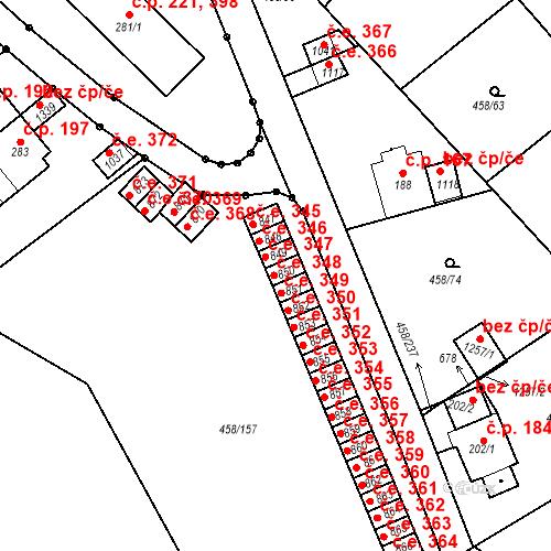 Katastrální mapa Stavební objekt Adamov 348, Adamov