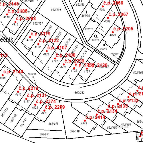 Katastrální mapa Stavební objekt Blansko 2337, Blansko